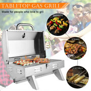 Barbecue Grill Stainless Steel Small Gas Oven Backyard Cooker Party Camping Bbq
