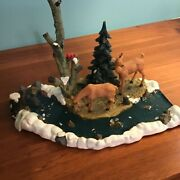 Lemax Feeding Deer Vintage Table Accent - Sold