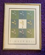 Vintage Tinkerbell Print Poster Original Disney Store Framed W/tag Free Shipping