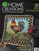 Alice Peterson Home Creations Needlepoint Pillow Top Kit - Sunrise Rooster
