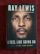 Ray Lewis Signed Autograph Book I Feel Like Going On Life, Game And Glory