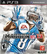 Madden Nfl 13 Ps3 Playstation 3 Video Game