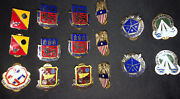 Military Insignia Vintage Pins Lot Of 16