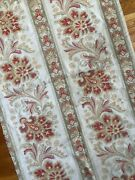 Antique French 19th Century Tropical Home Cotton/linen Fabric 2 Yds X 34