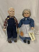 Grandma And Grandpa Day...the Good Old Days Porcelain Dolls Set