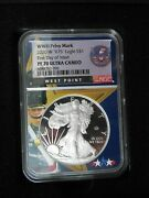 2020-w And039v75and039 Privy Mark Silver Eagle 1 Ultra Cameo Pf-70 1st Day Of Release