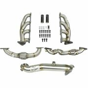 Afe 48-34139 Twisted Steel Headers With Up-pipes And Down-pipe 2011-2015 Gm 6.6l D