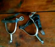 Antique Ww1 Canadian Cavalry 1916 Spurs With Leather Straps By Skinner Co.