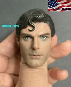 1/6 Superman Christopher Reeve Head Sculpt For 12 Hot Toys Worldbox Phicen Body