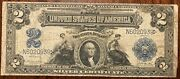 1899 2 Dollar Bill. Blue Seal. Large Note.