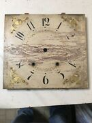 Antique Eli Terry And Sons Pillar And Scroll Wood Works Clock Dial Face