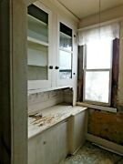 1800and039s Antique Built-in Butlers Pantry Cabinet Victorian Style Fir Ornate