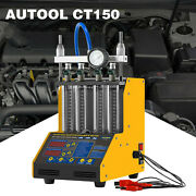 Petrol Car Motorcycle 4 Cylinder Ultrasonic Fuel Injector Tester Cleaner Machine