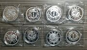 China 2018 - 2021 1 Oz Silver Dragon Dollar Complete Series Restrike Collection