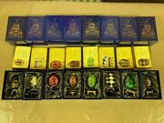 Atlas Edition Faberge Decorative Eggs - Complete Set Of 40 With Spoons - New