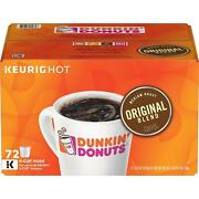 Dunkinand039 Donuts Original Blend K-cup Coffee Pods Medium Roast 72 Count