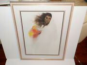Ozz Franca Navajo Winter Lithograph S/n 599/600 Framed Matted W/ Certificate