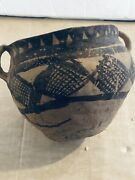 Antique Pre Historic Native American Indian Pottery Pot Seed Jar