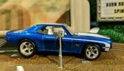 Hot Wheels And03969 Camaro W/ Real Riders Very Nice Hw Garage Initial Chase Blue L3