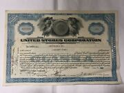 United Stores Corporation 1933 Class A Stock Certificate 75 Shares
