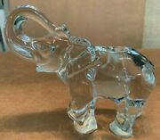 Andnbspbaccarat France Crystal Elephant Signed W Trunk Up Mint- 7.5 X 6 X 3 Approx