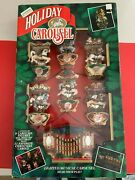 Mr. Christmas Holiday Carousel Lighted Moving Horses -- 21 Carols New In Box