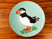 Mid Century Copper And Enamel Puffin Dish Annemarie Davidson Handcrafted Plate