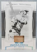 1/1 Frankie Frisch ⭐ 2020 National Treasures Non Auto Printing Plate Game Relic