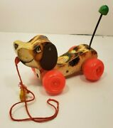 1965 Vintage Fisher-price Little Snoopy Dog Wooden Pull-toy, No. 693