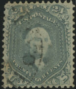 Us Scott70b Vf 1861 Steel Blue 24c Washington, Excellent Color And Appearance