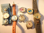 Mickey Mousebarbiecinderella And Snoopy Character Windup Watches For Restore