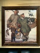 Picture Framed Glass Hunters With Decoys And Duck Flying 20 X 21 X 1