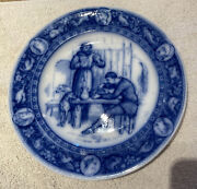 Wedgwood Ivanhoe Porcelain Plate Friar Tuck And Black Knight Circa 1890 10