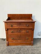 Antique Oak Wood Chest Of Drawers Wash Stand Bedside Table Traditional American