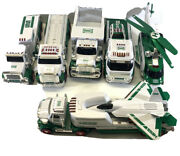 Hess Trucks 2008-2014 Transporter Helicopter Rescue And More/lot Of 8 Used