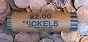 Buffalo Nickel Roll Unopened 2 Nickels 5c Mixed Lot Buff Estate Coins