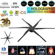 3d Wifi Hologram Projector Fan 576 Led Holographic Advertising Image Lamp Player