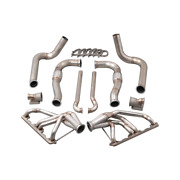 Cxracing Twin Turbo Manifold Downpipe Kit For 67-76 Dodge Dart With Small Block