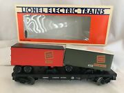 Lionel 1990 Lcac Canadian National Flatcar With Trailers Cn900013 Mint