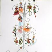 Set Of 12 Fitz And Floyd 12 Days Of Christmas Ornaments - Mint