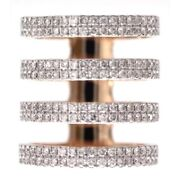 Memorial Day Gift 1.6ct Natural Diamond Band Ring 18k Rose Gold Jewelry