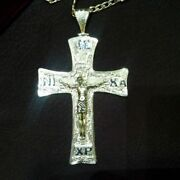 Sterling Silver 925 Pectoral Cross Pendant Christian Church Clergy Bishop Priest
