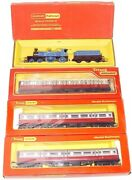 Triang Hornby Oo Caledonian Blue Belle Steam Locomotive + Full Coach Set Mb`68