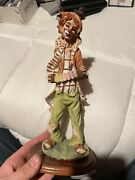House Of Zog Clown Statue Rare. Large Re-adhered To Base.