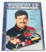 Nascar Winston Cup Illustrated Oct 1992 Davey Allison 28 Hard Cover W/ Posters
