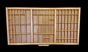 Antique Hamilton Printing Letterpress Type Case Divided Drawer Curio Display