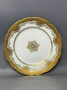 L👀k Very Rare Gold Gilt Salad/dessert Plate Cowell And Hubbard Cleveland 9 Inch