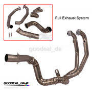 Titanium Alloy Motorcycle Exhaust Link Pipe Front Header Modified For Duke 790