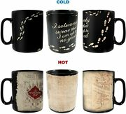 Harry Potter Movie Heat Activated Color Change Marauders Map Novelty Coffee Mug