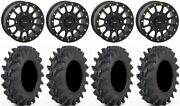 System 3 Sb-5 Black 14 Wheels 30x9.5 Outback Max Tires Rzr Turbo S / Rs1
